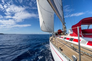 Yacht sailing on Galveston Bay - get your boat covered